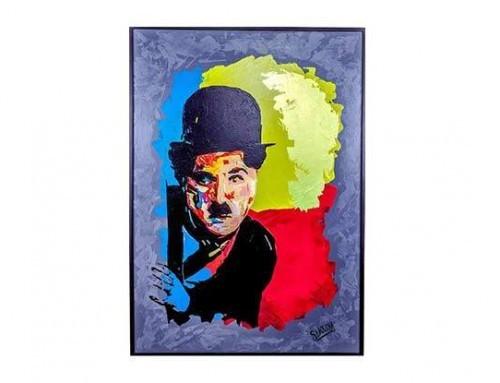 Artiste peintre Marocain – Oeuvre CHARLIE CHAPLIN 1