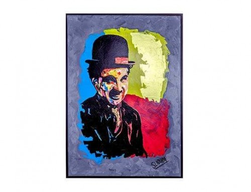 Artiste peintre Marocain – Oeuvre CHARLIE CHAPLIN II